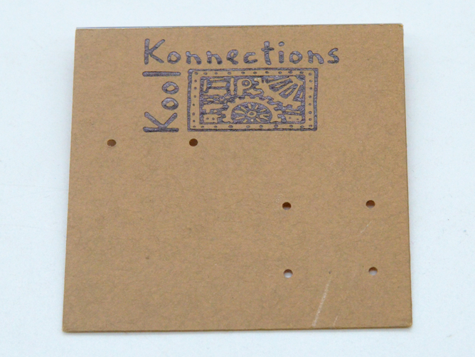 Kraft paper bronzing PVC earrings card manufacturer in Dongguan