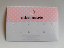 Silk Screen PVC Earring Card (zk006)