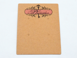 Kraft paper earring card